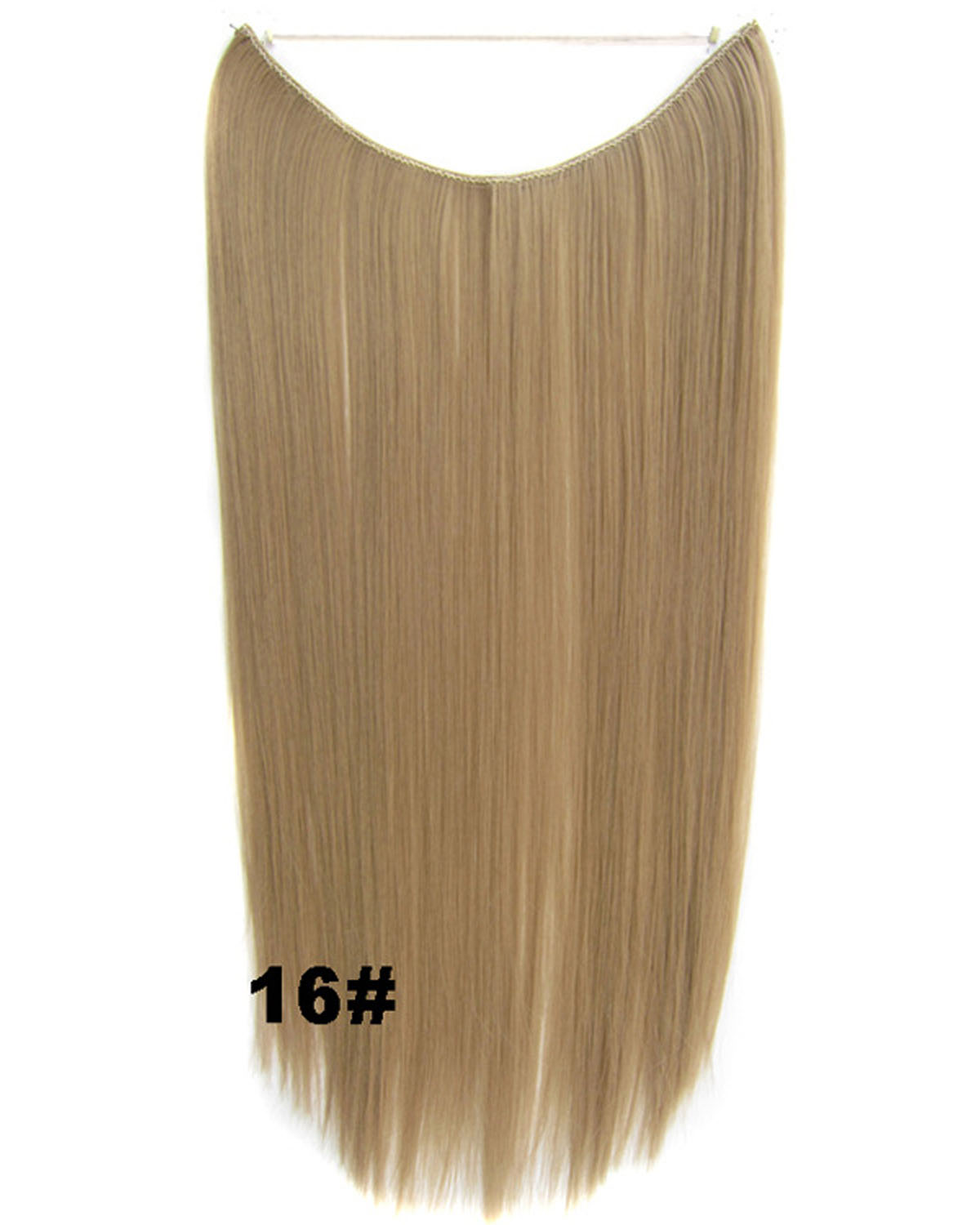 22 Inch Straight and Long Smooth One Piece Miracle Wire Flip in Synthetic Hair Extension FIH666 16# 50g 55cm