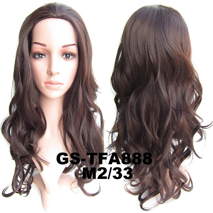 22 Inch Vivid Curly and Long 3/4 Half Head Synthetic Hair Wigs With Comb  M2/33