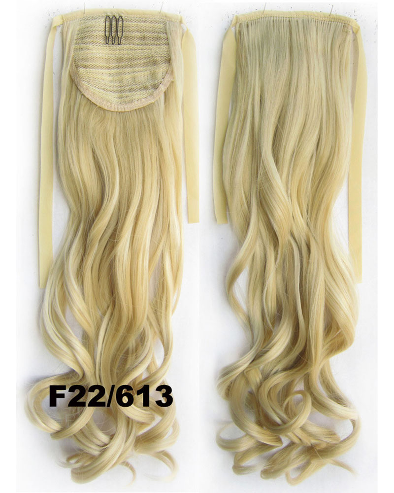 22 Inch Woman  Curly and Long Lace/Ribbon Synthetic Hair Ponytail F22/613# Popular Body Wave