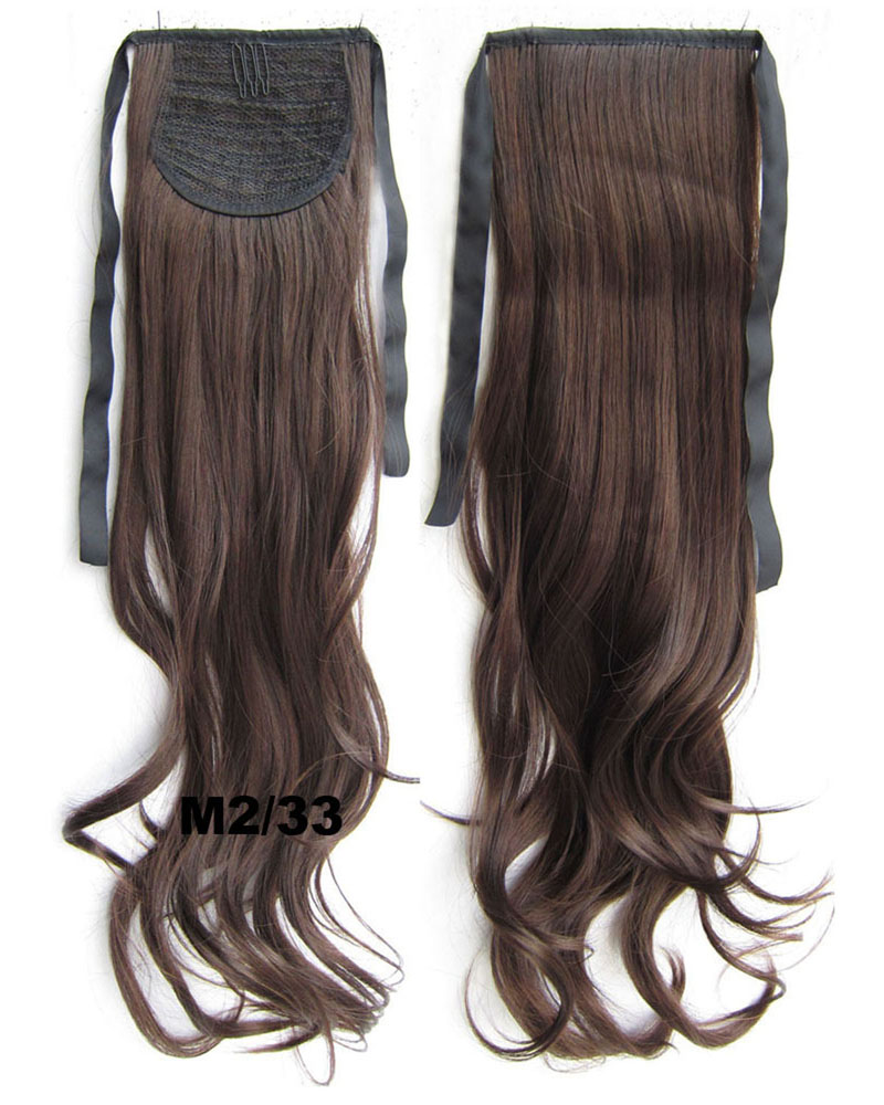 22 Inch Woman Curly  and Long Lace/Ribbon Synthetic Hair Ponytail M2/33 Body Wave