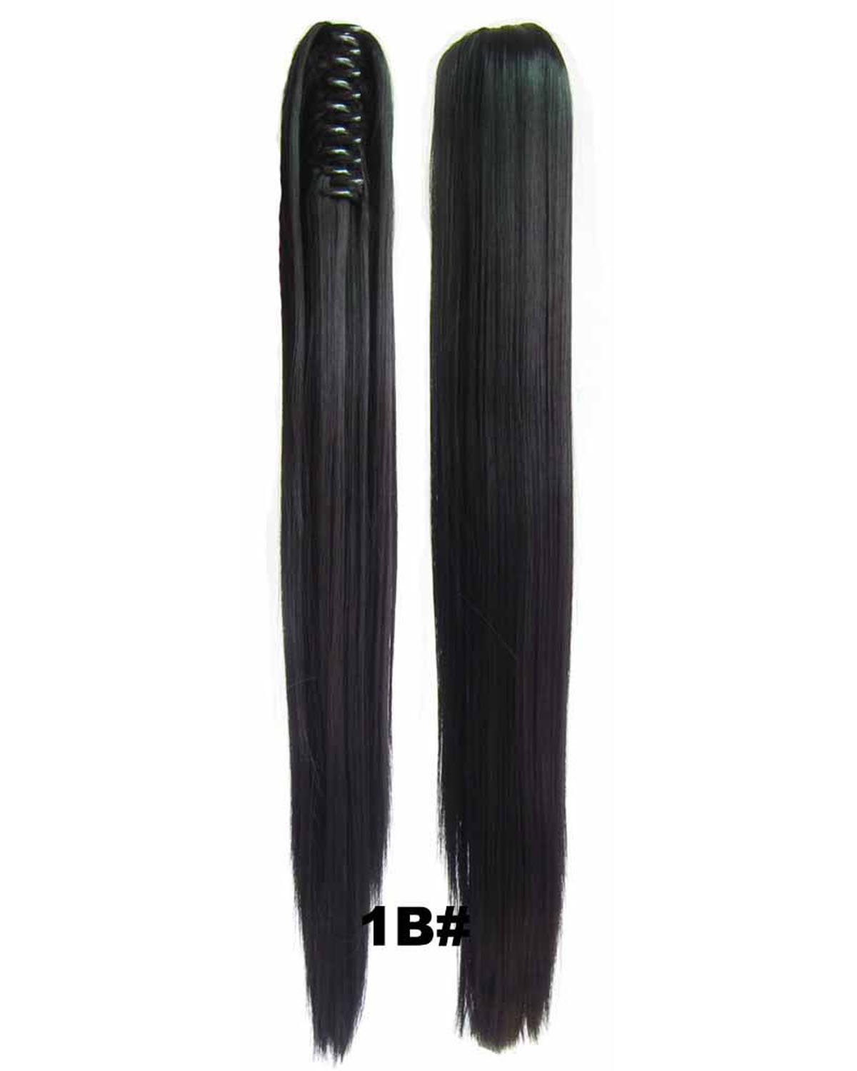 Straight Long Lace/Ribbon Synthetic Hair Ponytail 1B# For Women