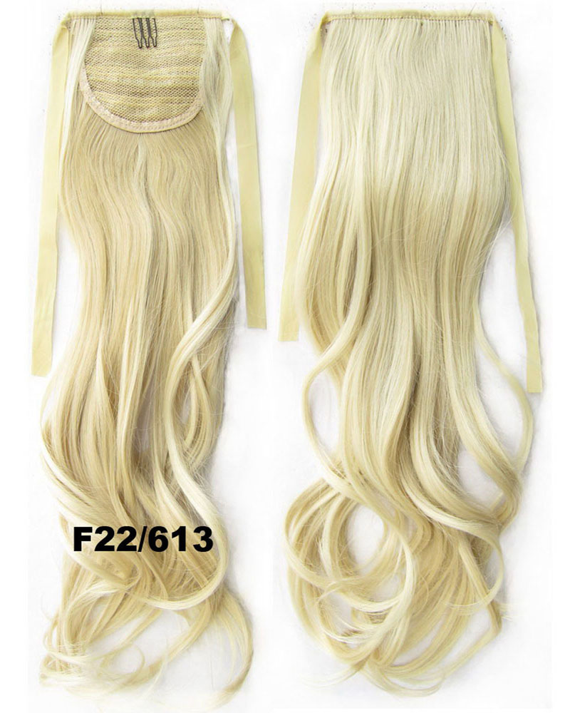 22 Inch Woman Dramatic Curly and Long Lace/Ribbon Synthetic Hair Ponytail  F22/613