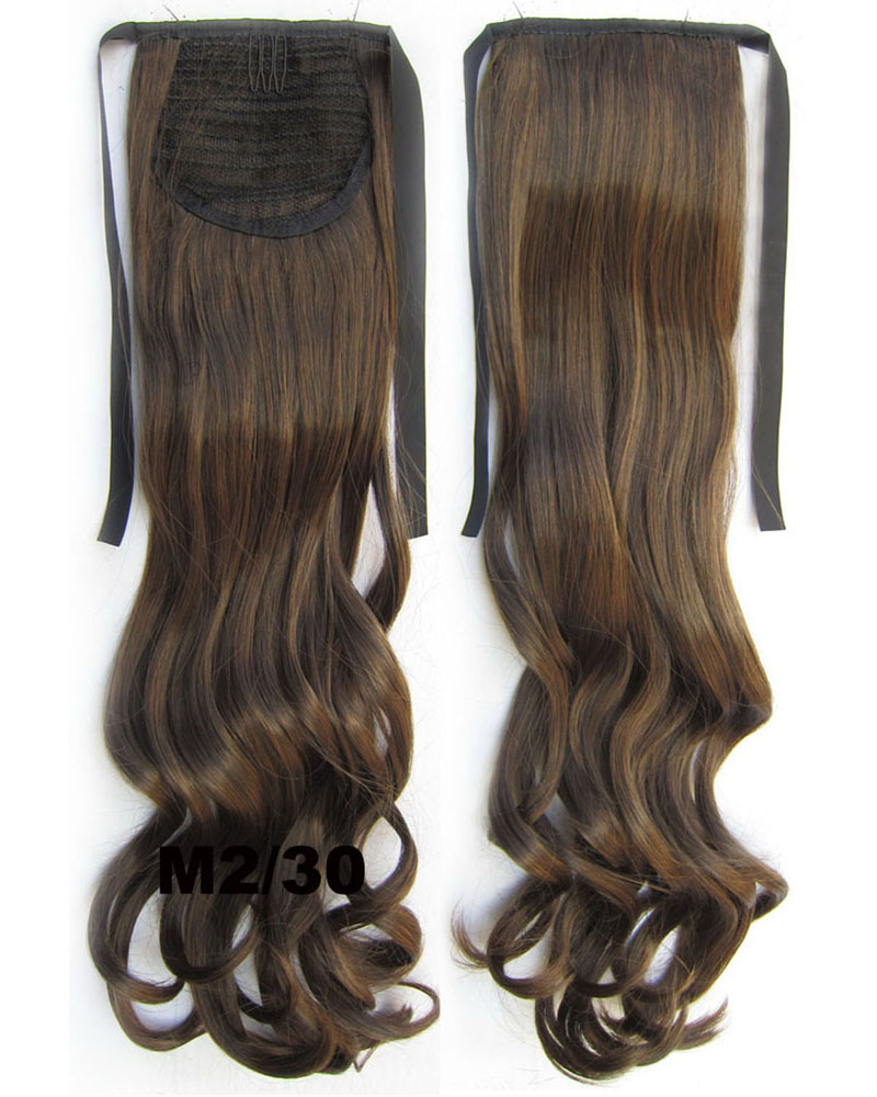 22 Inch Woman Grand Curly and Long Lace/Ribbon Synthetic Hair Ponytail  M2/30  Body Wave