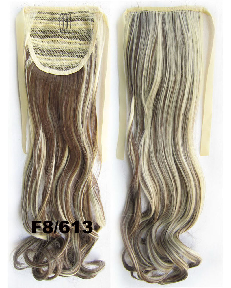 22 Inch Woman High-class  Curly and Long Lace/Ribbon Synthetic Hair Ponytail F8/613