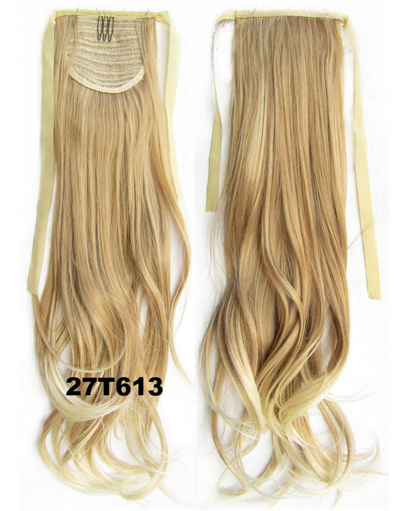 22 Inch Woman Lifesome Curly and Long Lace/Ribbon Synthetic Hair Ponytail F27/613#
