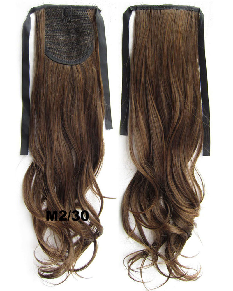 22 Inch Woman Meritorious Curly and Long Lace/Ribbon Synthetic Hair Ponytail  M2/30