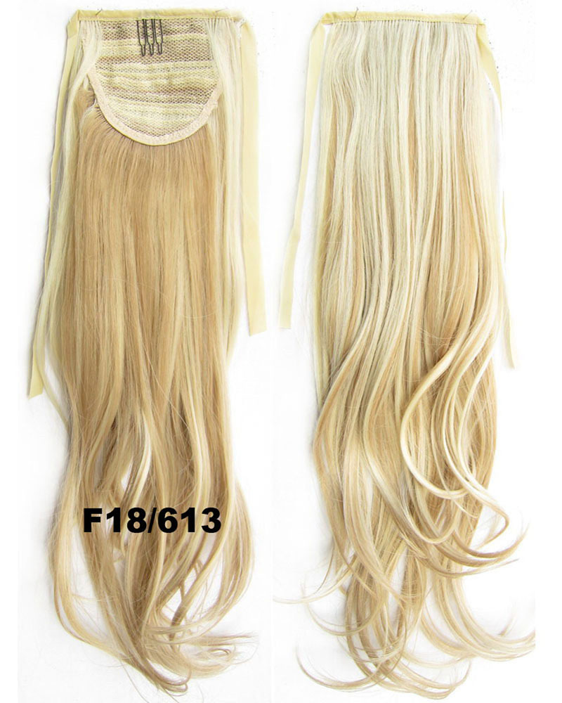 22 Inch Woman Trendy Curly and Long Lace/Ribbon Synthetic Hair Ponytail F18/613