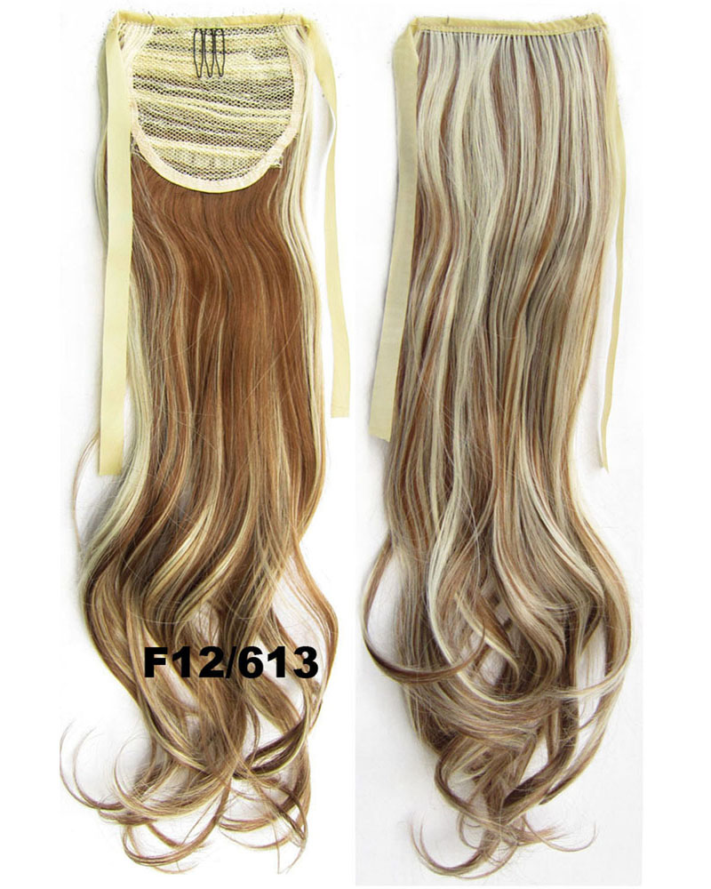 22 Inch Woman Vivid Curly and Long Lace/Ribbon Synthetic Hair Ponytail  F12/613