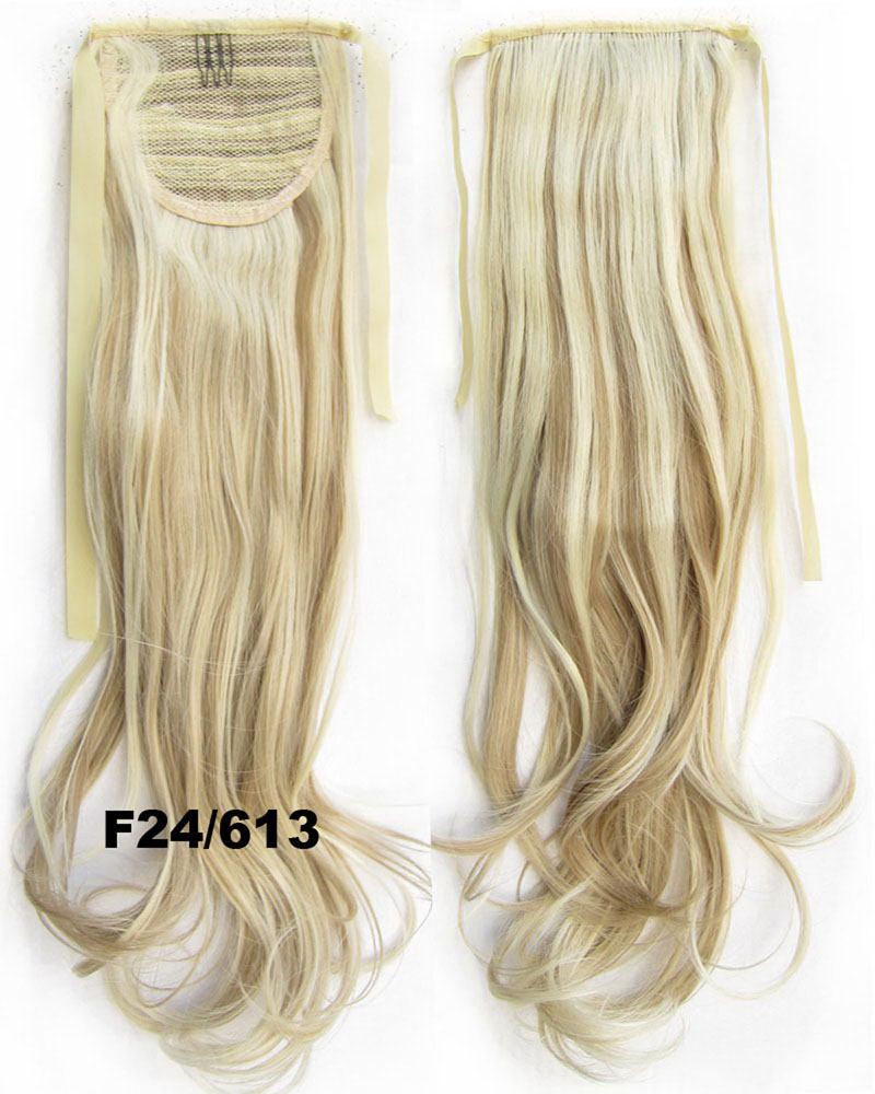 22 Inch Woman Winsome Curly and Long Lace/Ribbon Synthetic Hair Ponytail F24/613