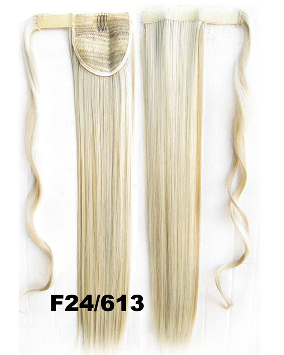22 Inch Women Fashionable Straight and Long Wrap Around Synthetic Hair Ponytail 4#