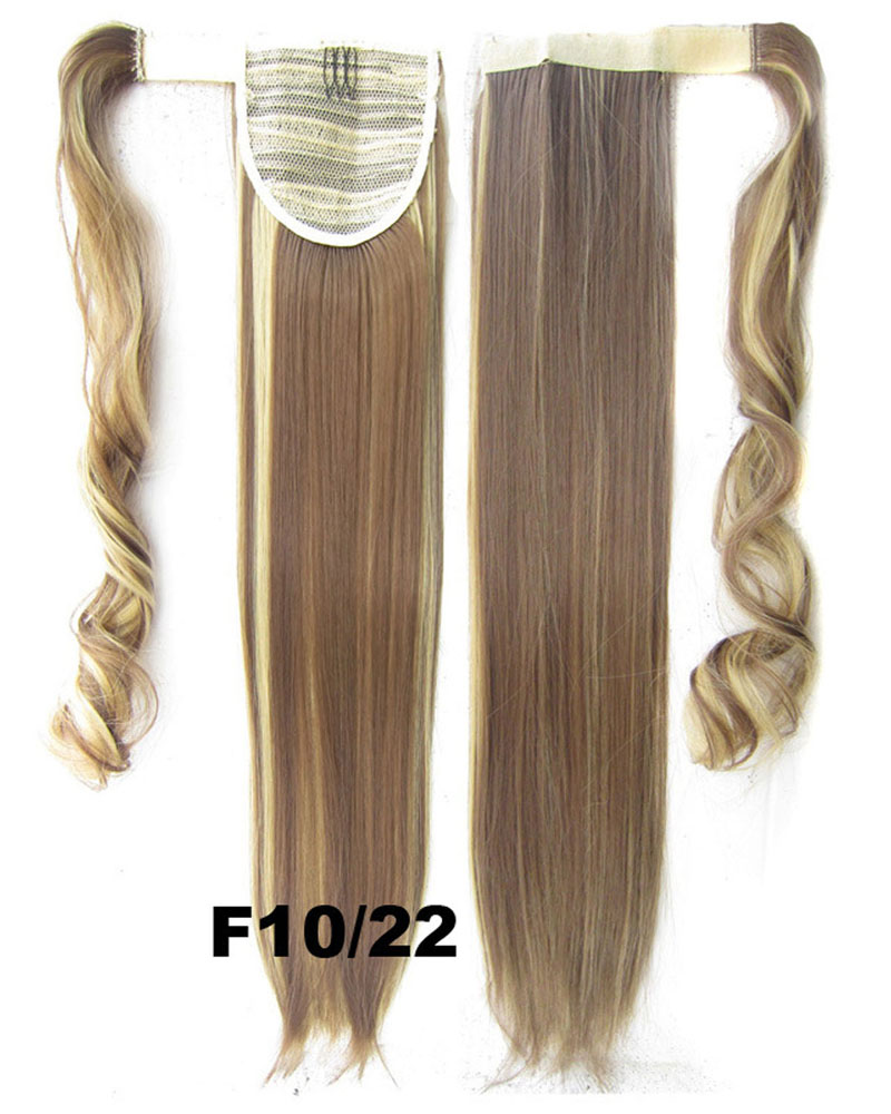 22 Inch Women Gorgeous Straight and Long Wrap Around Synthetic Hair Ponytail F10/22#