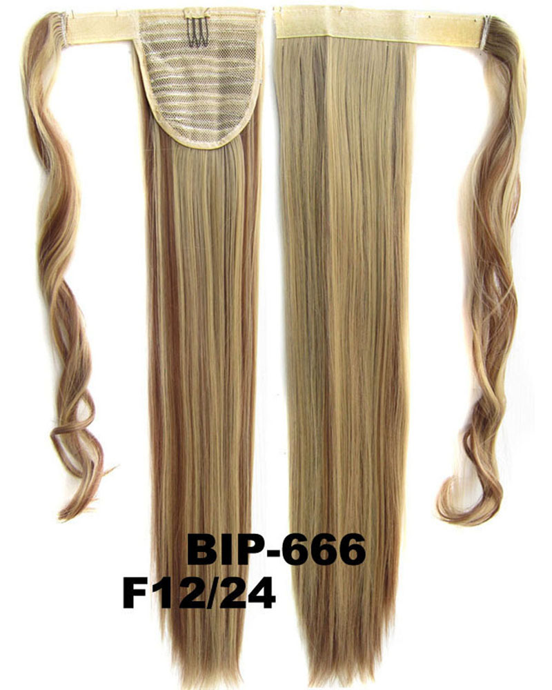 22 Inch Women High-level Straight and Long Wrap Around Synthetic Hair Ponytail  F12/24