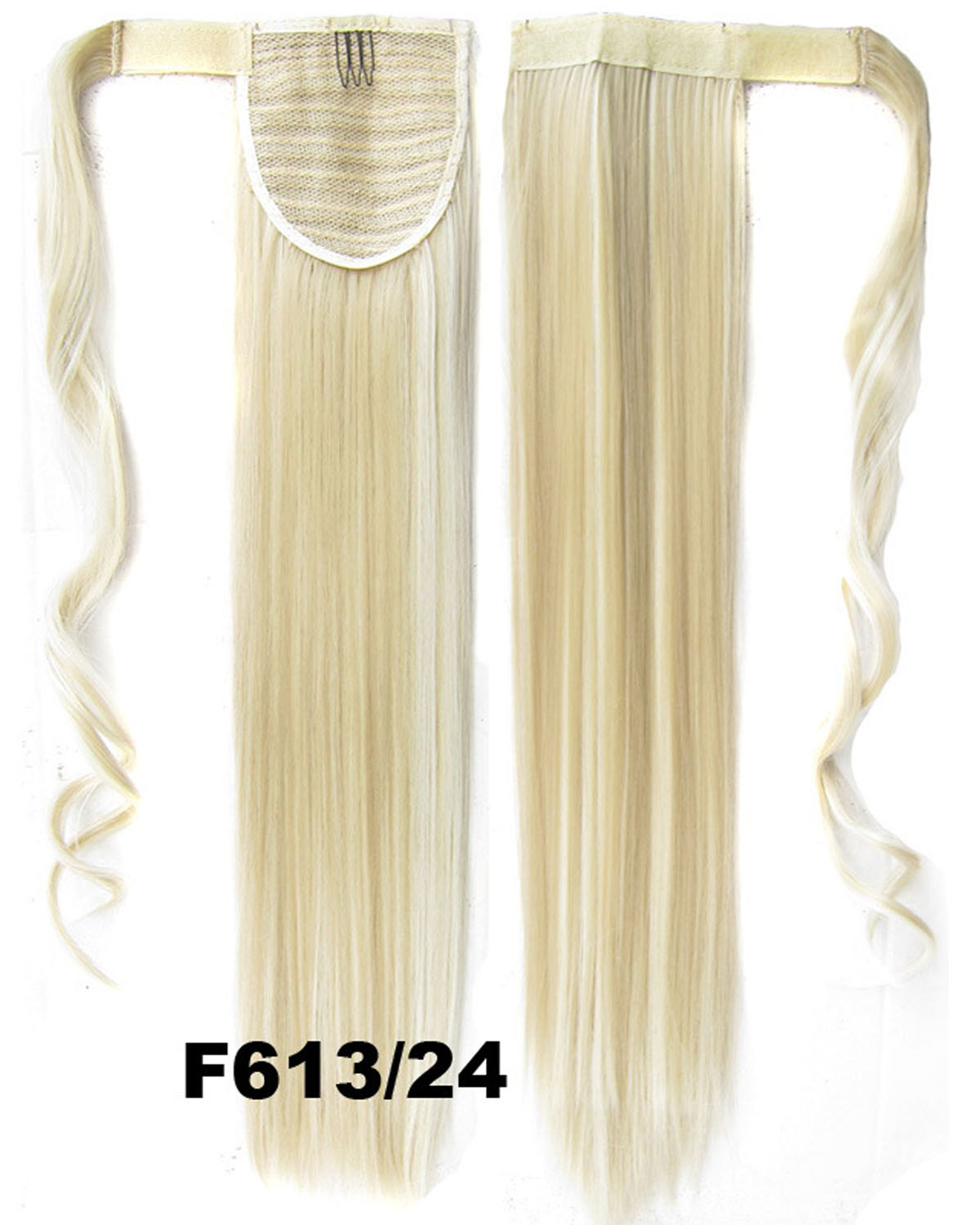 22 Inch Women Invisible Straight and Long Wrap Around Synthetic Hair Ponytail F613/24#