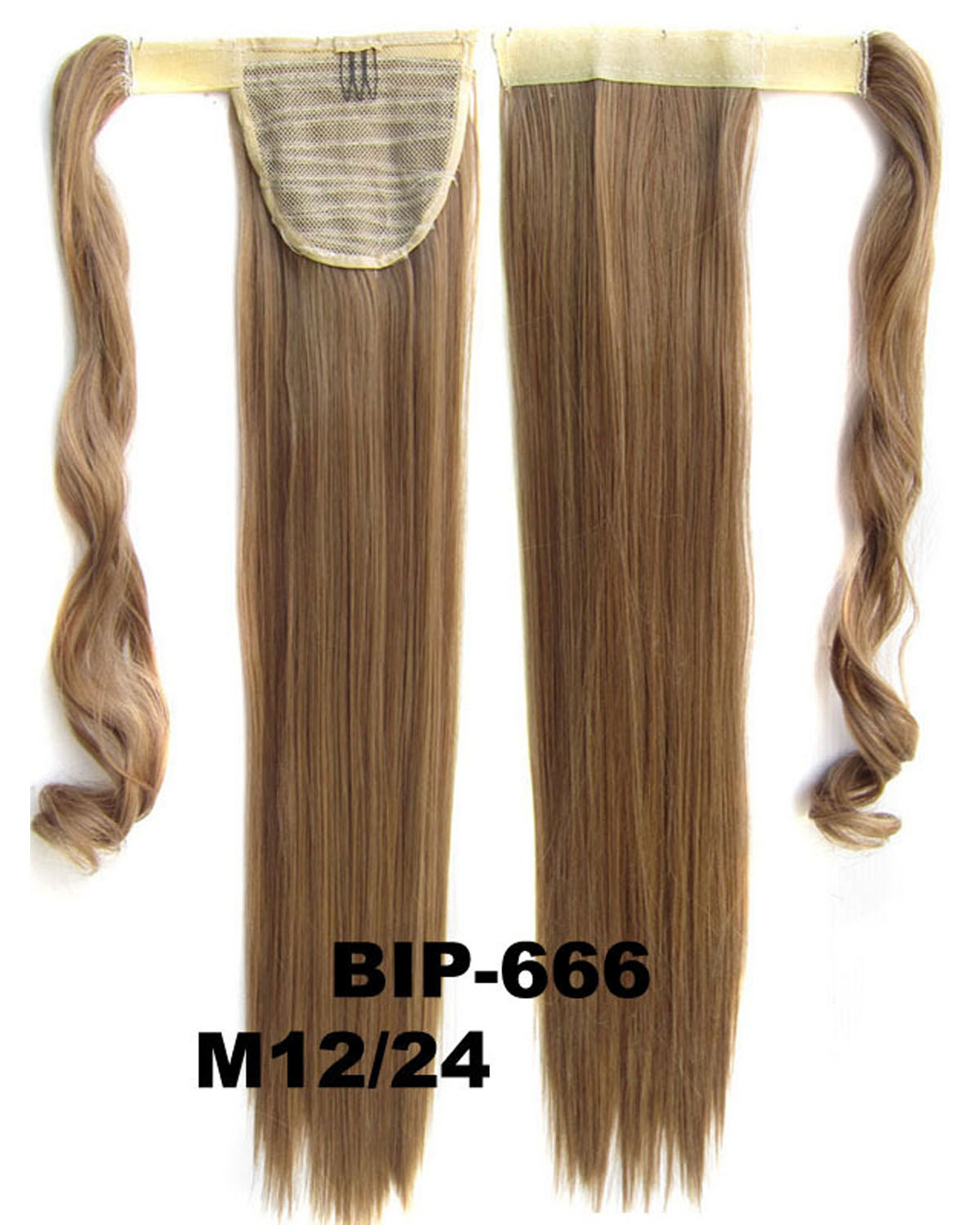 22 Inch Women Luxurious  Straight and Long Wrap Around Synthetic Hair Ponytail  M12/24