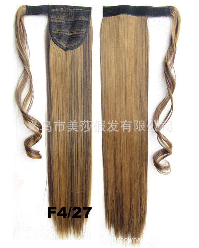 22 Inch Women Salable Straight and Long Wrap Around Synthetic Hair Ponytail  F4/27#