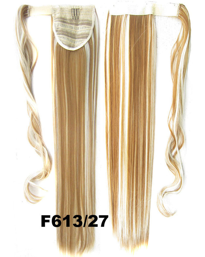 22 Inch Women Smooth Straight and Long Wrap Around Synthetic Hair Ponytail F613/27#