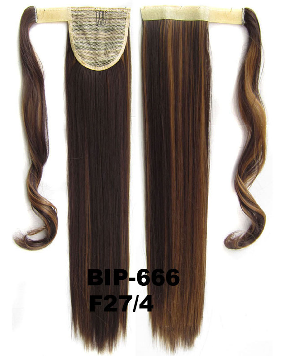 22 Inch Women Sophisticated Straight and Long Wrap Around Synthetic Hair Ponytail 2#