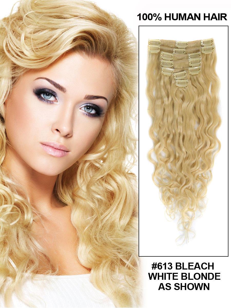 24 inch 613 bleach blonde full head clip in hair extensions 24 inch 613 bleach blonde full head clip in hair extensions body wave 11 pcs pmusecretfo Gallery