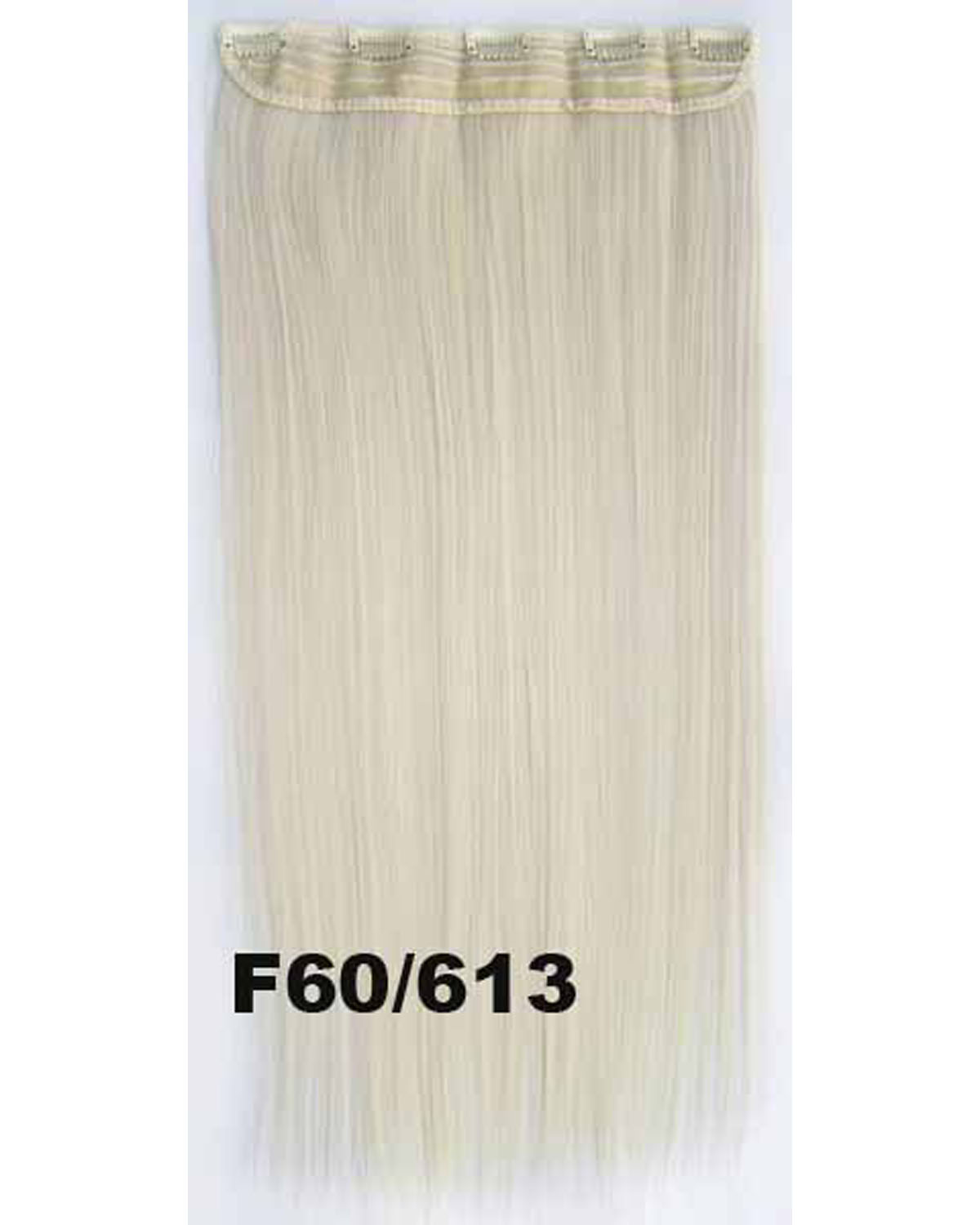 24 inch Fantastic Straight Long One Piece 5 Clips Clip in Synthetic Hair Extension F60/613