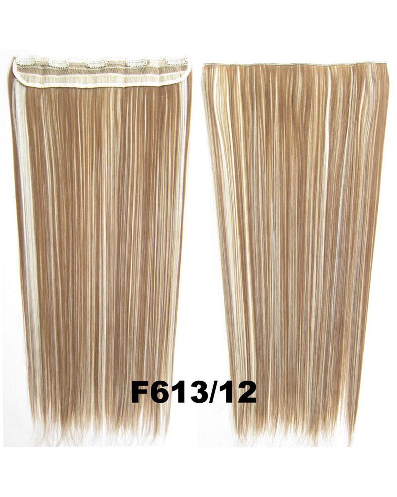 24 Inch Female Bewitching and Popular Straight Long One Piece 5 Clips Clip in Synthetic Hair  Extension F613/12