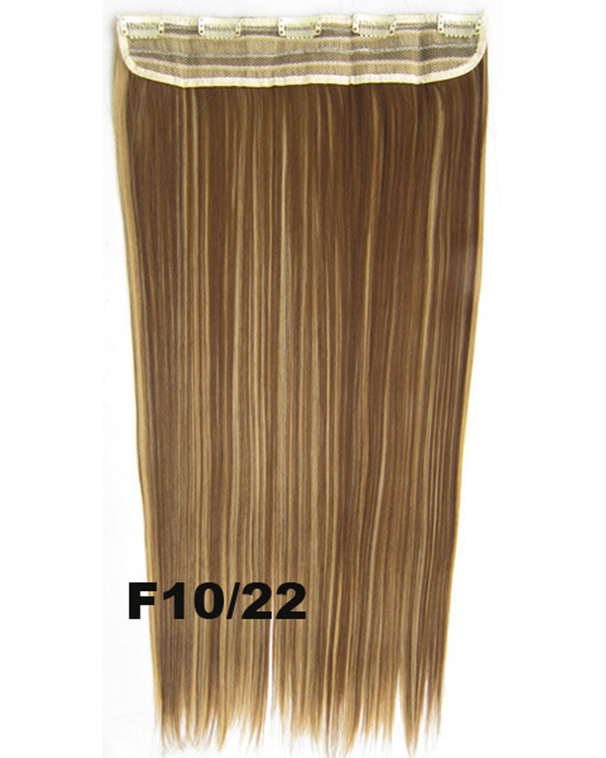 24 Inch Female First-class Long and Straight One Piece 5 Clips Clip in Synthetic Hair Extension  F10/22