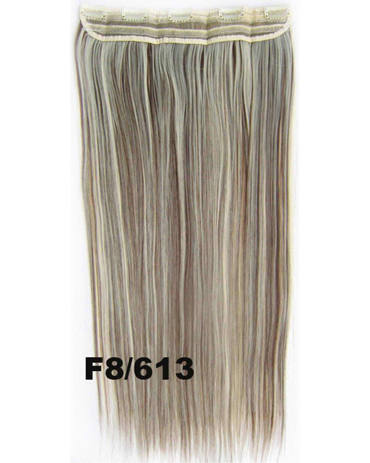 24 Inch Female High Quality Long and Straight Hot-Sale One Piece 5 Clips Clip in Synthetic Hair ExtensionF8/613