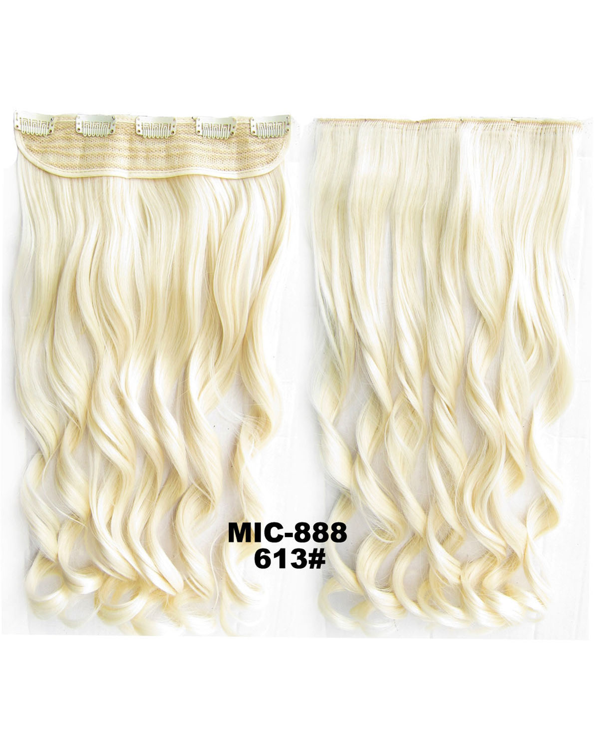 24 Inch Female Salable and Good Quality Body Wave Curly Long One Piece 5 Clips Clip in Synthetic Hair Extension613# 100g
