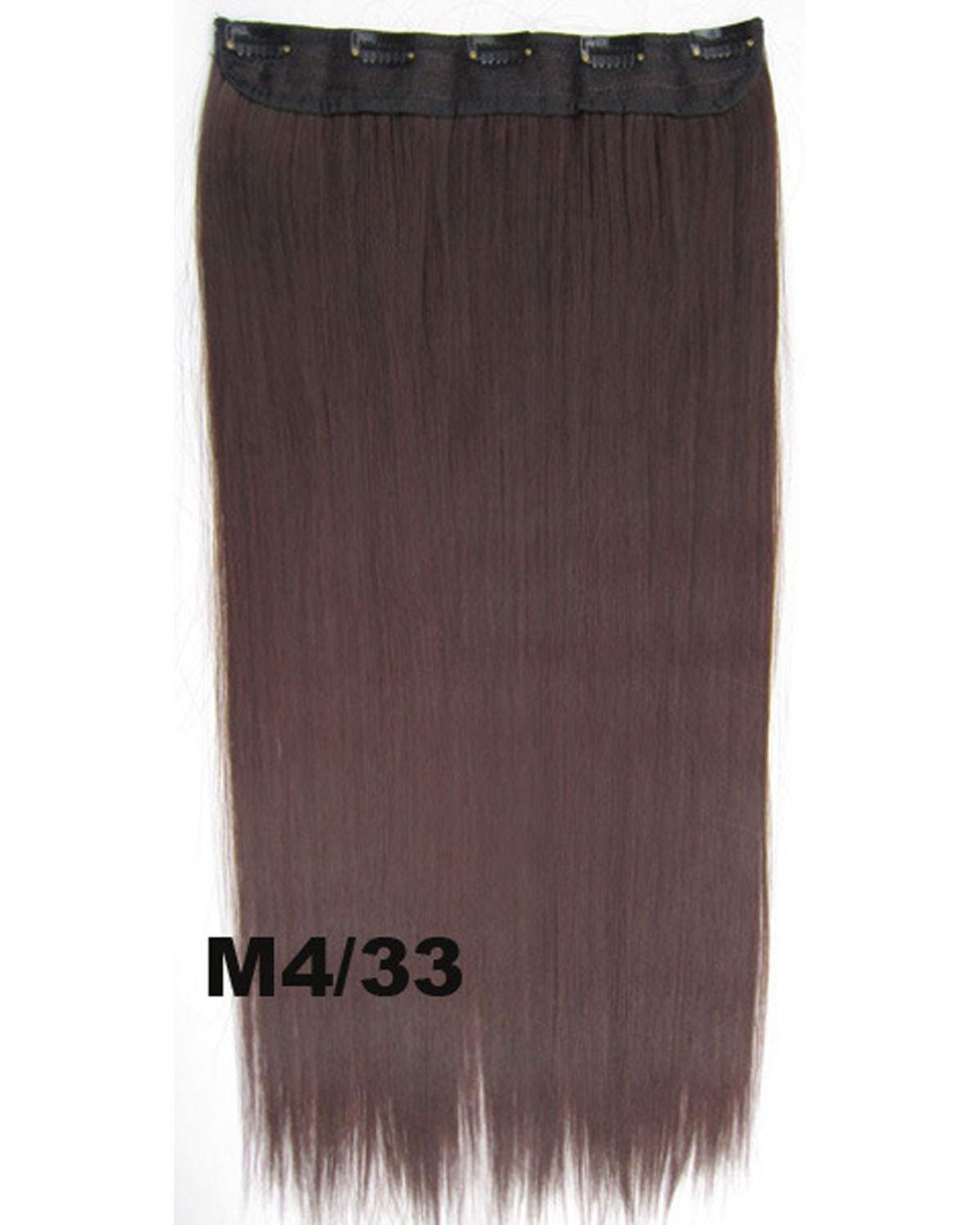 24 Inch Female Sophisticated Long and Straight Hot-Sale One Piece 5 Clips Clip in Synthetic Hair Extension M4/33