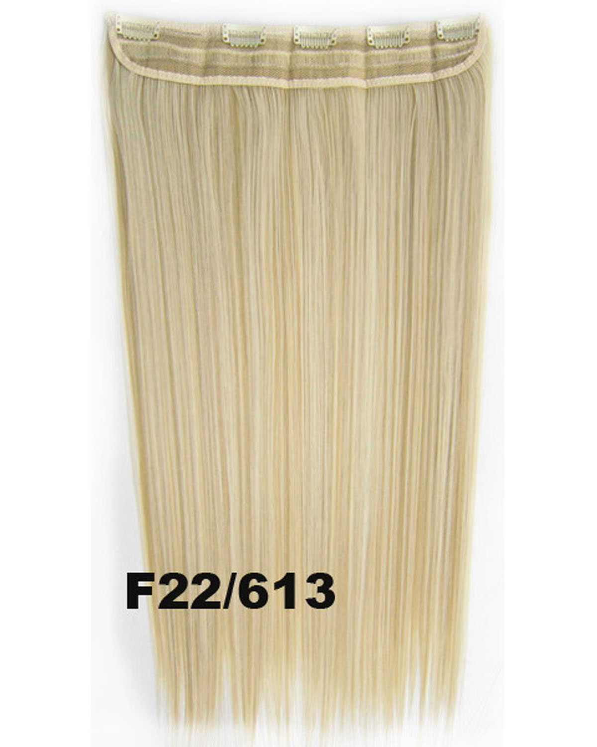 24 Inch Female Tempting Straight Long One Piece 5 Clips Clip in Synthetic Hair Extension F22/613