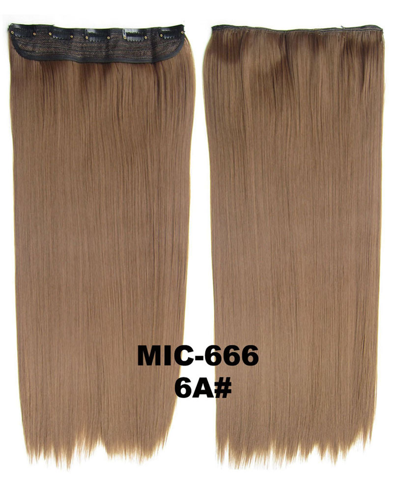 24 inch Graceful Straight Long One Piece 5 Clips Clip in Synthetic Hair Extension 6A 100g