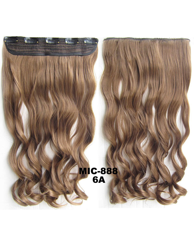 24 inch Lady Curly Wave One Piece 5 Clips Clip in Synthetic Hair Extension 6A