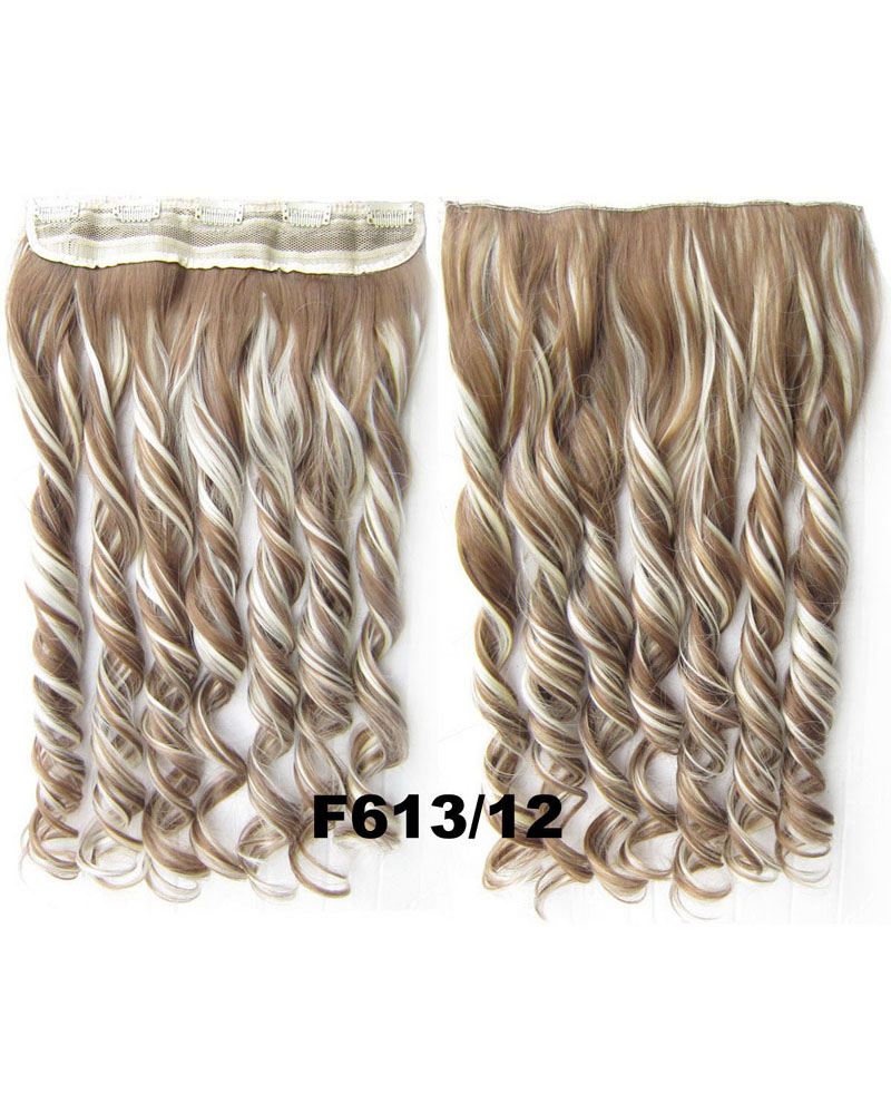 24 Inch Lady Fashionable Curly Long One Piece 5 Clips Clip in Synthetic Hair Extension F613/12