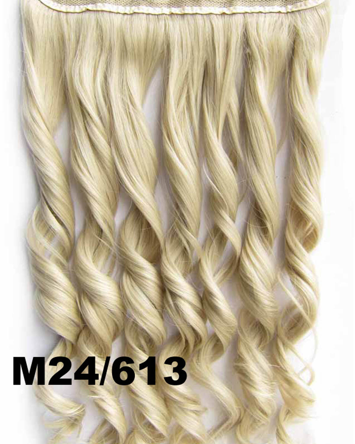 24 Inch Lady Fine Body Wave Curly Long One Piece 5 Clips Clip in Synthetic Hair Extension  M24/613