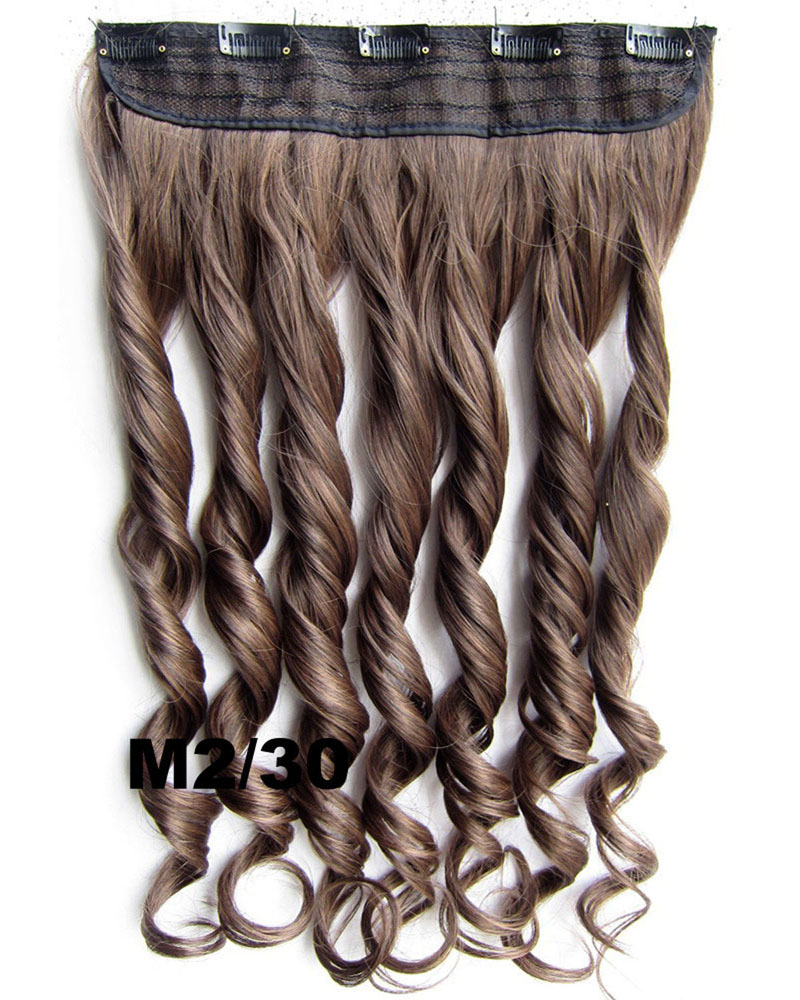 24 Inch Lady Perfect Curly Long One Piece 5 Clips Clip in Synthetic Hair Extension  M2/30