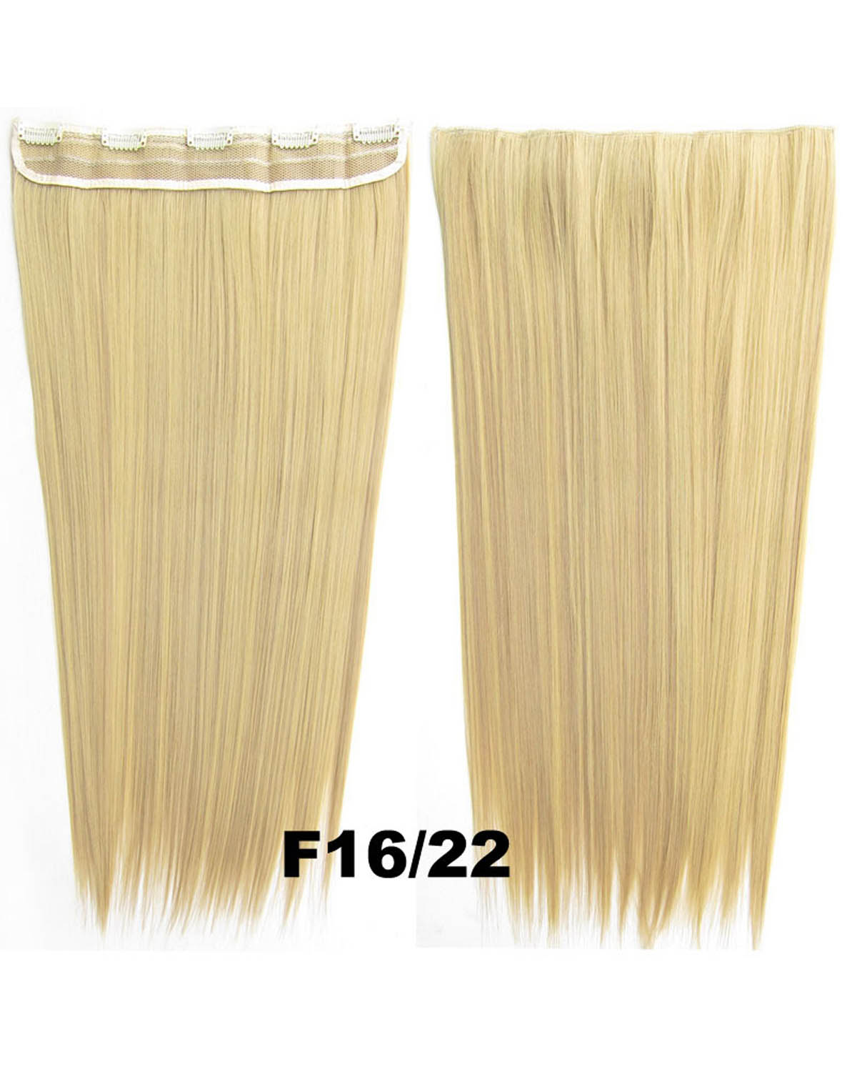 24 inch Lady Shining Straight and Long One Piece 5 Clips Clip in Synthetic Hair Extension  F16/22