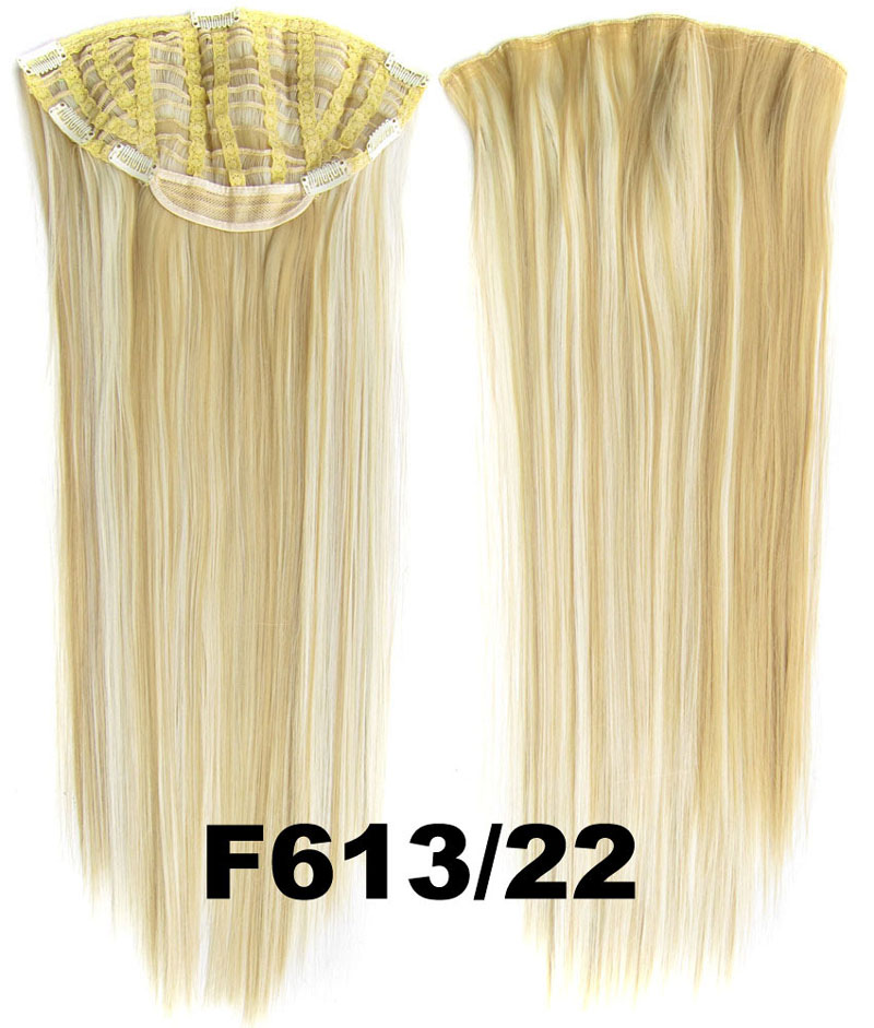 24 Inch Lady Straight and Long Charismatic One Piece 7 Clips Clip in Synthetic Hair ExtensionF613/22 Simpsons Hairpiece