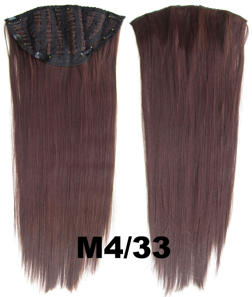 24 Inch Lady Straight and Long Glamour One Piece 7 Clips Clip in Synthetic Hair ExtensionM4/33#