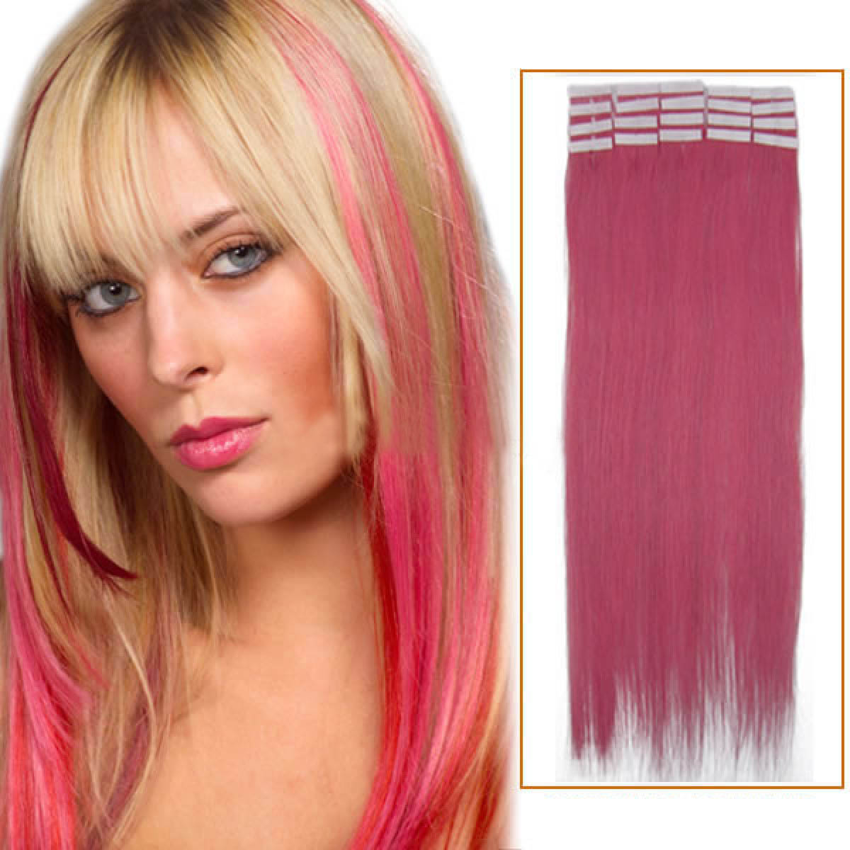 Inch pink tape in human hair extensions 20pcs 24 inch pink tape in human hair extensions 20pcs pmusecretfo Image collections