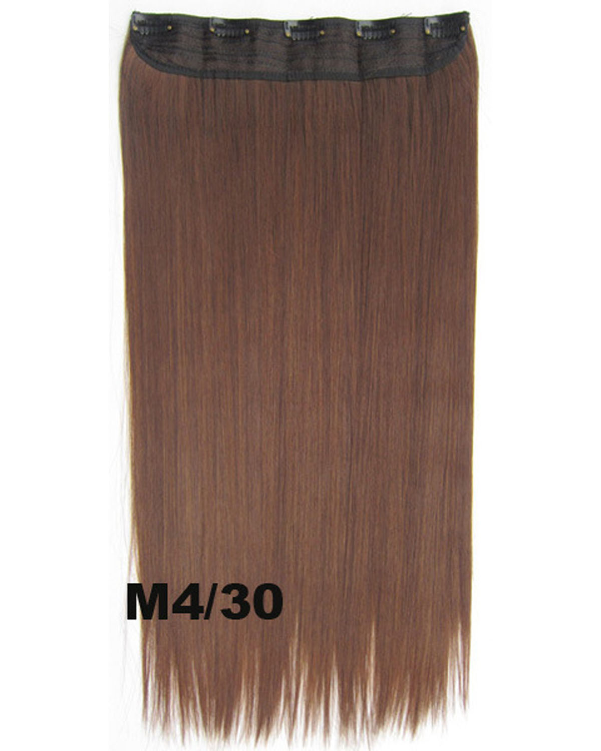 24 inch Unartificial Straight Long One Piece 5 Clips Clip in Synthetic Hair Extension M4/30