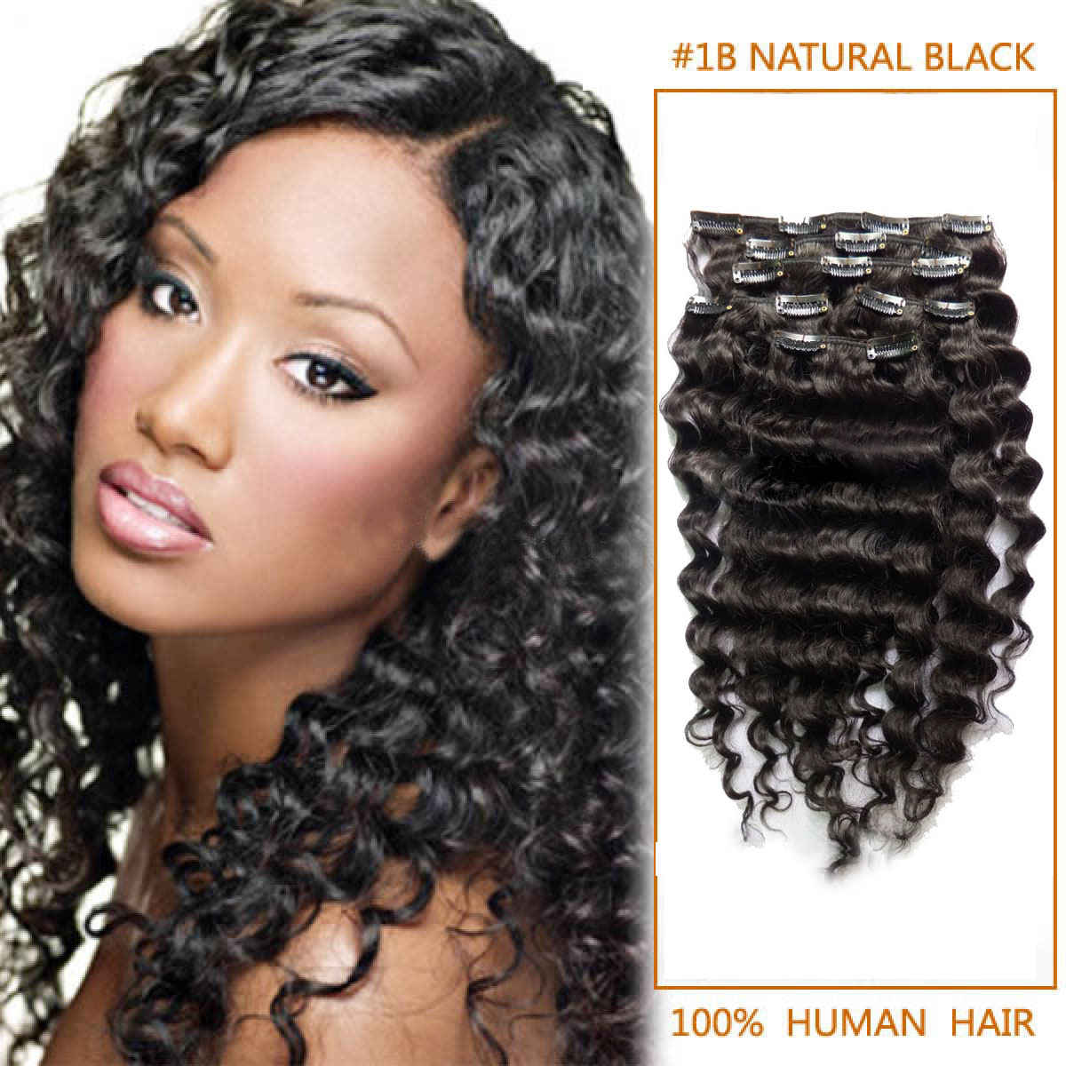 Inch versatile 1b natural black clip in hair extensions curly 7 24 inch versatile 1b natural black clip in hair extensions curly 7 pieces pmusecretfo Choice Image