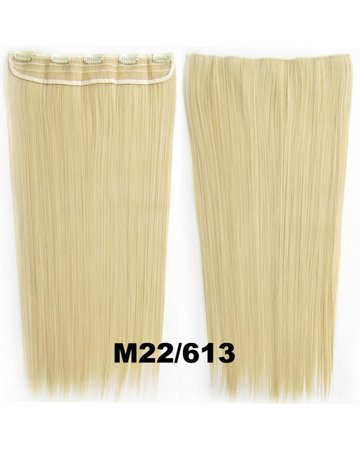 24 Inch Women Absorbing Straight Long One Piece 5 Clips Clip in Synthetic Hair M22/613