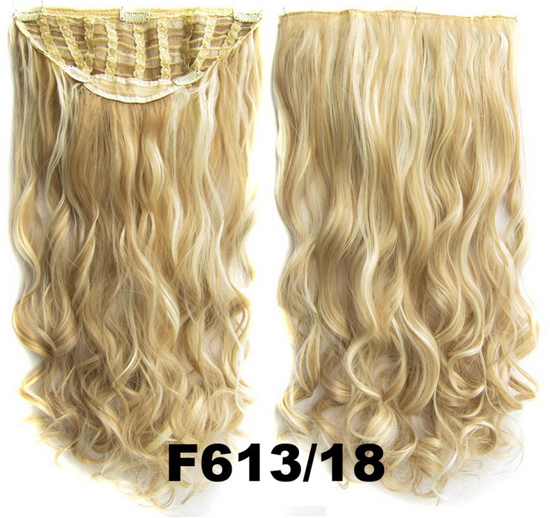 24 Inch Women Curly and Long Alluring One Piece 7 Clips Clip in Synthetic Hair Extension F613/18