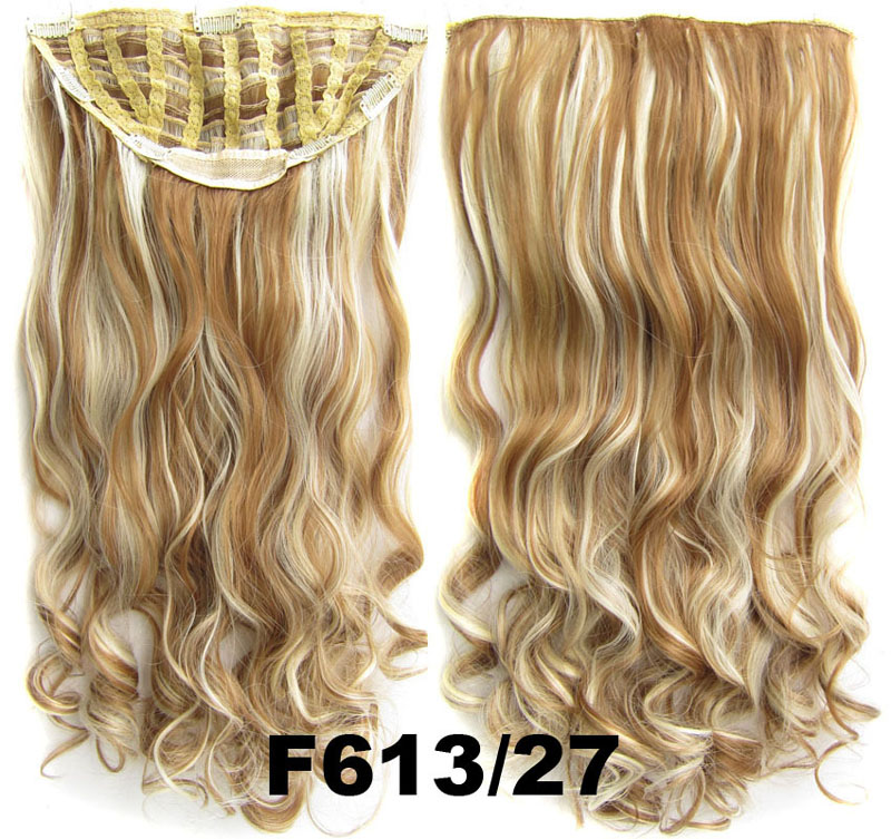 24 Inch Women Curly and Long Fabulous One Piece 7 Clips Clip in Synthetic Hair Extension F613/27