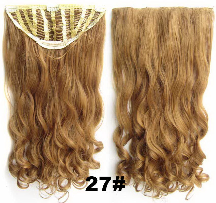 24 Inch Women Curly and Long  Winsome One Piece 7 Clips Clip in Synthetic Hair Extension27# Simpsons Hairpiece
