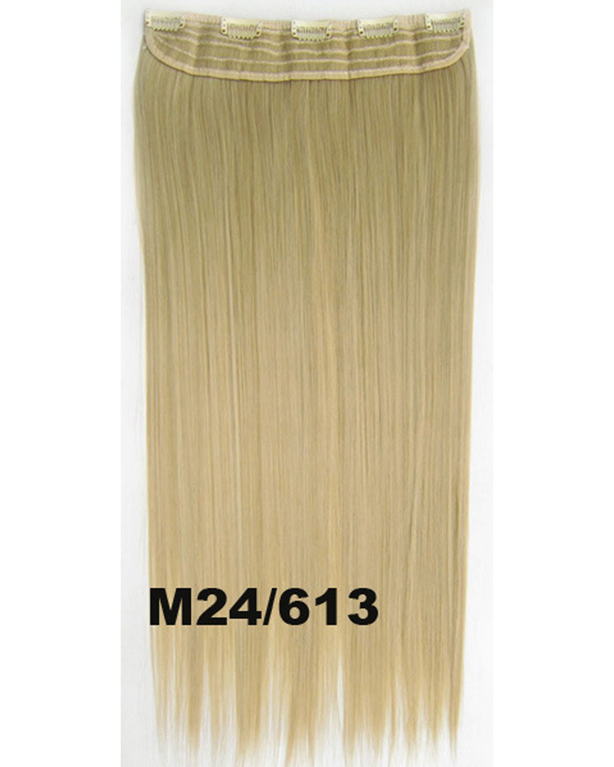 24 Inch Women Dramatic Straight Long One Piece 5 Clips Clip in Synthetic Hair Extension M24/613