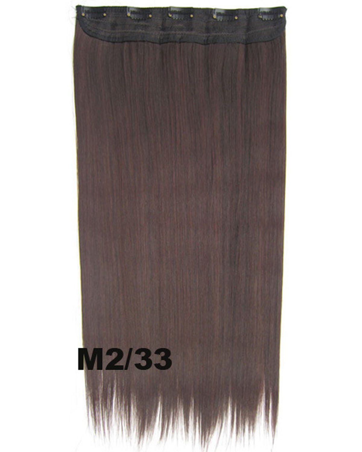 24 inch Women Fashionable Straight and Long One Piece 5 Clips Clip in Synthetic Hair Extension M2/33