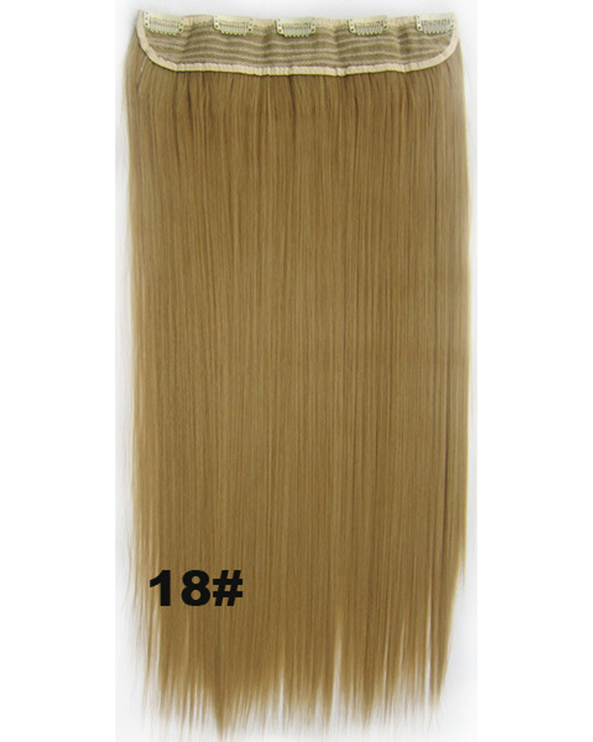 24 Inch Women Hot-sale and Fashional Straight Long One Piece 5 Clips Clip in Synthetic Hair 18#