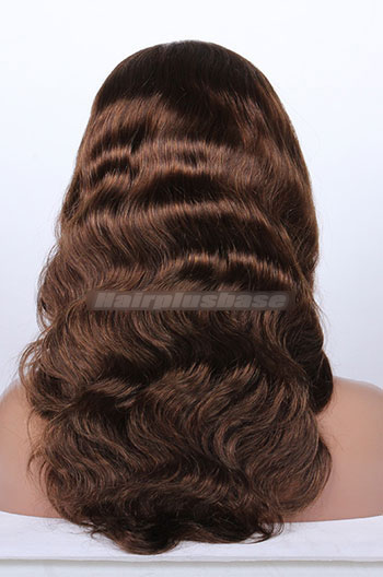 Body Wave Mixed Brown Color Indain Remy Hair Full Lace Wigs