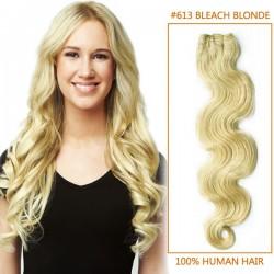26 Inch #613 Bleach Blonde Body Wave Brazilian Virgin Hair Wefts