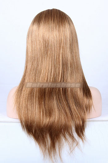 Mix Brown Color #27/30 Chinese Virgin Hair Natural Straight Full Lace Wigs